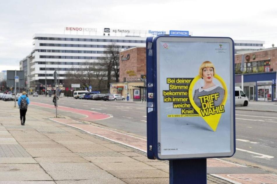 Wahlplakate hängen wieder im falschen Bundesland