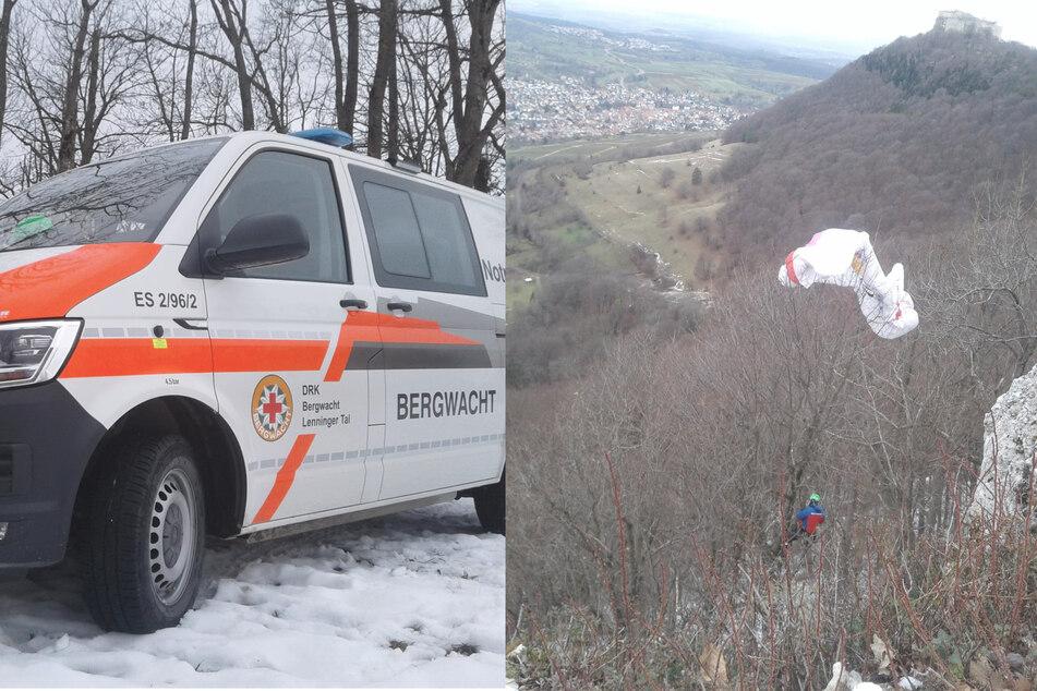 Stuttgart: Unglücklicher Ausflug: Gleitschirmflieger bleibt in Baumkrone hängen