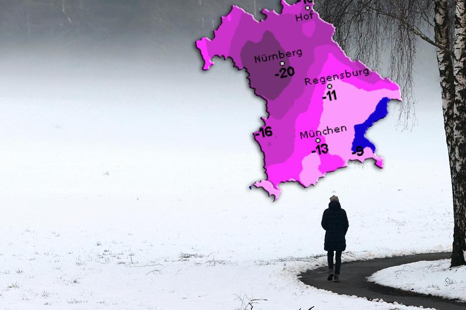 Bis zu -20 Grad: In Bayern stürzen die Temperaturen noch weiter ab