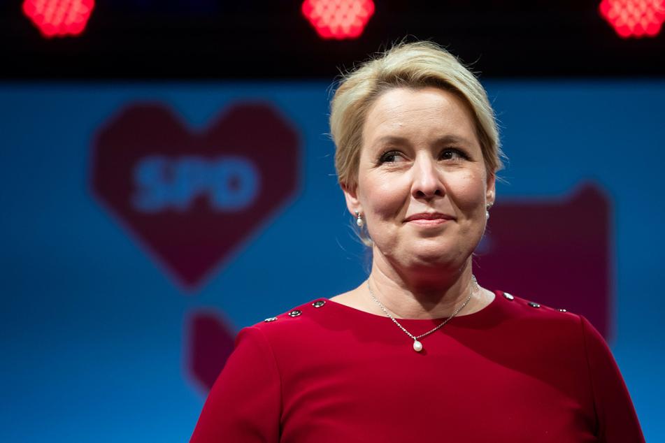 Franziska Giffey, Spitzenkandidatin der Berliner SPD für das Amt der Regierenden Bürgermeisterin.