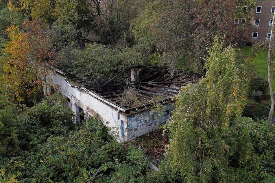 In dieser Hausruine war am Samstag die Leiche eines Mädchens entdeckt worden.