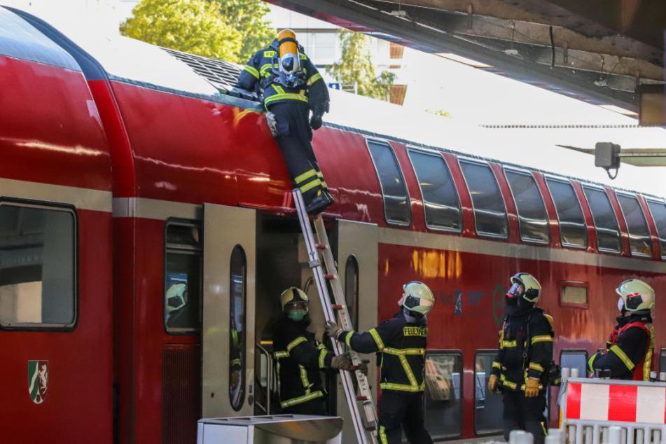 Bahnhof wegen rauchendem Zug gesperrt