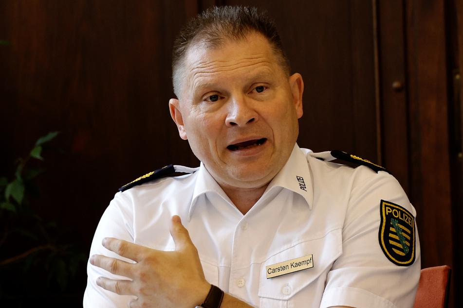 Polizeipräsident Carsten Kaempf (53) aus Chemnitz hat große Pläne.