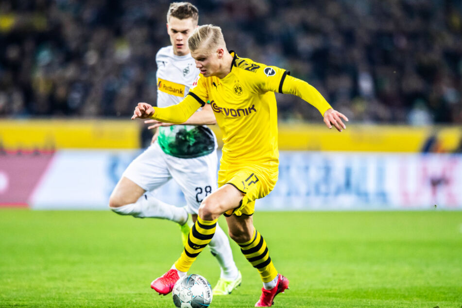 BVB-Stürmer Erling Haaland (r.) konnte sich nicht wie gewohnt in Szene setzen.