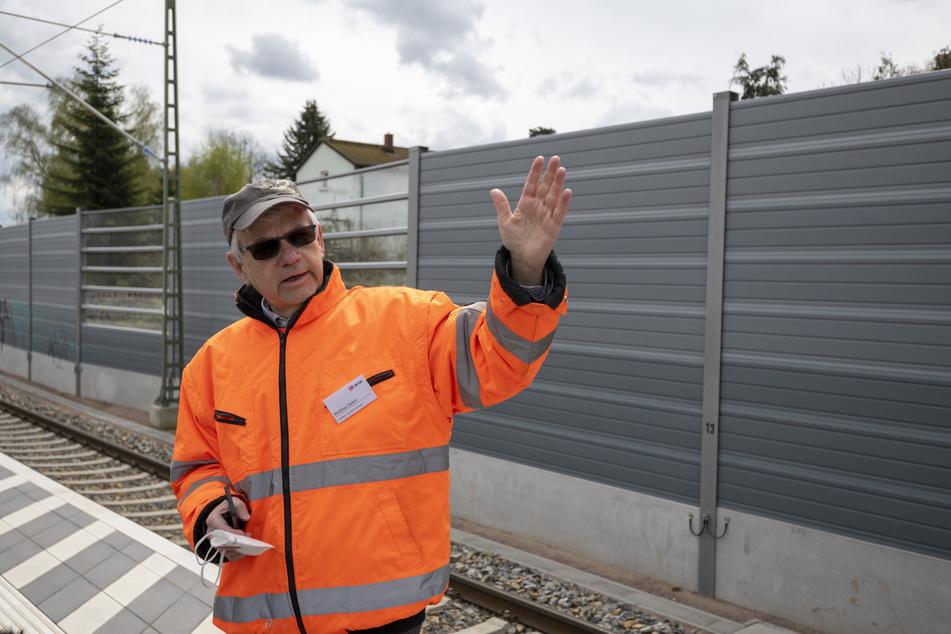 Matthias Sieber (63) hält als Projektleiter die Fäden zum Chemnitzer Bahnbogen in der Hand.
