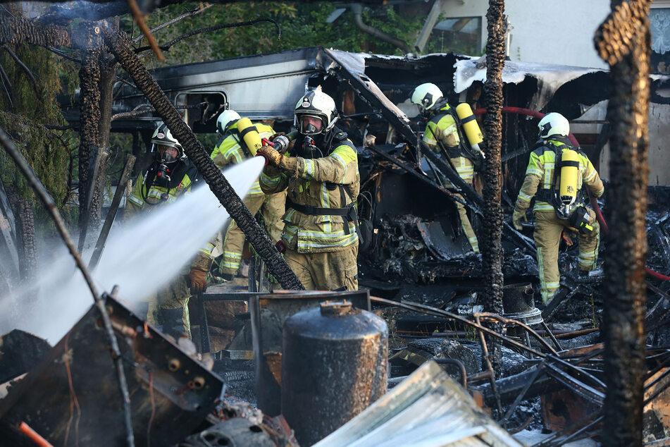 Die Einsatzkräfte hatten allerhand zu tun um die Flammen in den Griff zu bekommen.