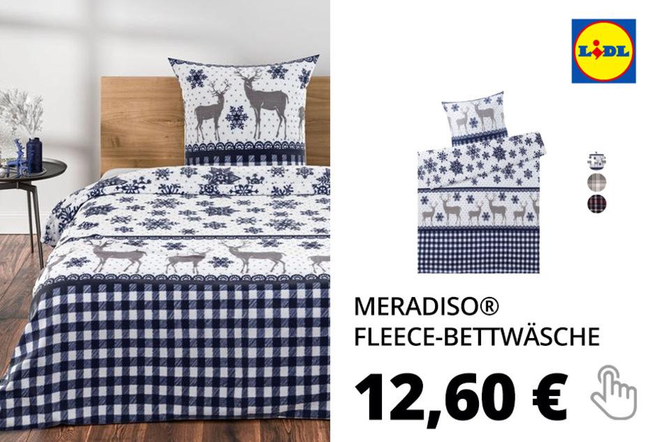 MERADISO® Mikrofaser-Fleece-Bettwäsche, 135 x 200 cm