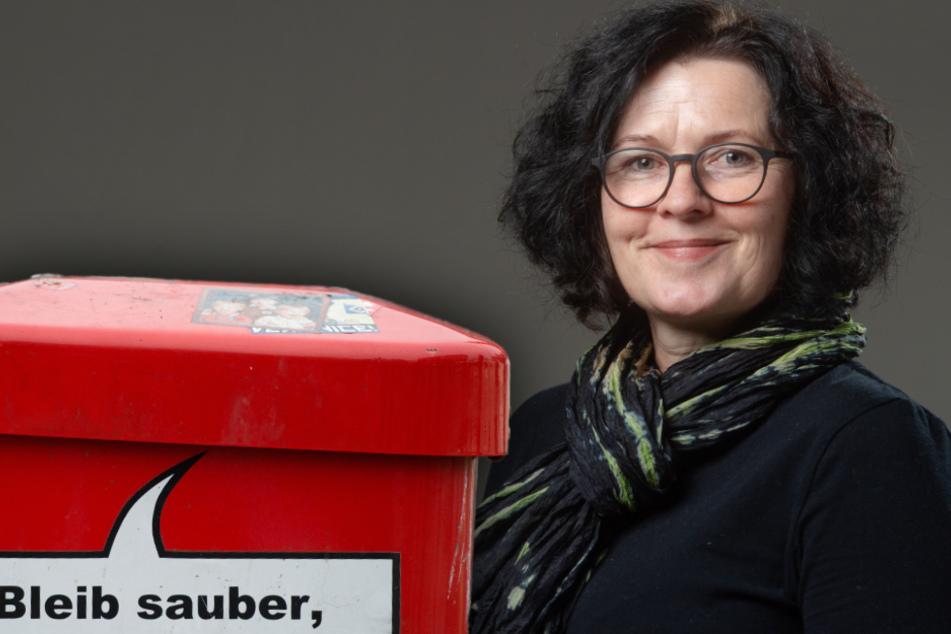"""""""Hast du mal ne Kippe? Gib mir den Rest!"""": Grüne wollen """"sprechende"""" Mülleimer in Chemnitz"""