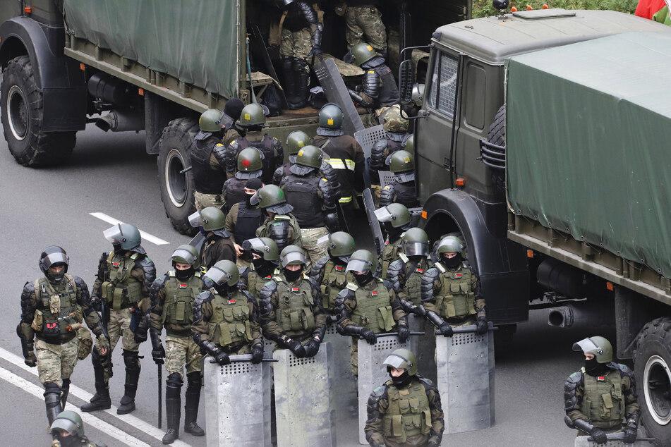 Bei den Protesten war auch viel Polizei im Einsatz.
