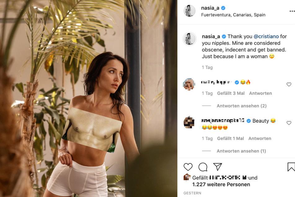 Das Bild zeigt einen Screenshot des Instagram-Posts von Model und Reality-Darstellerin Anastasiya Avilova (32).