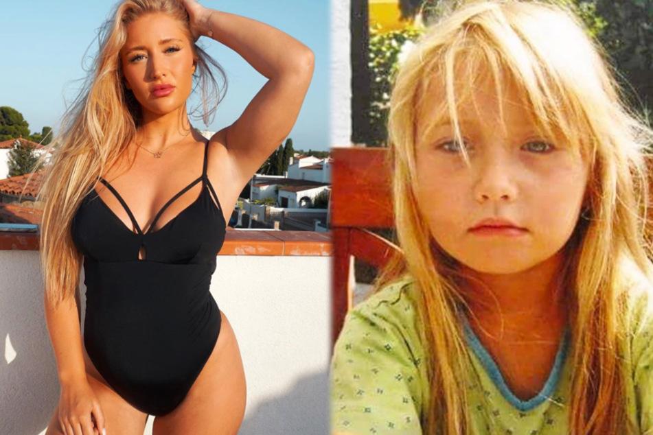 Unter dem Hashtag #damalsundheute stellte die Frankfurter Fitness-Influencerin Tami Tilgner am Donnerstag diese beiden Fotos auf Instagram ein.