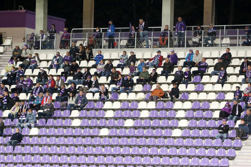500 Zuschauer können das Aue-Heimspiel gegen den 1. FC Heidenheim am Sonntag verfolgen.