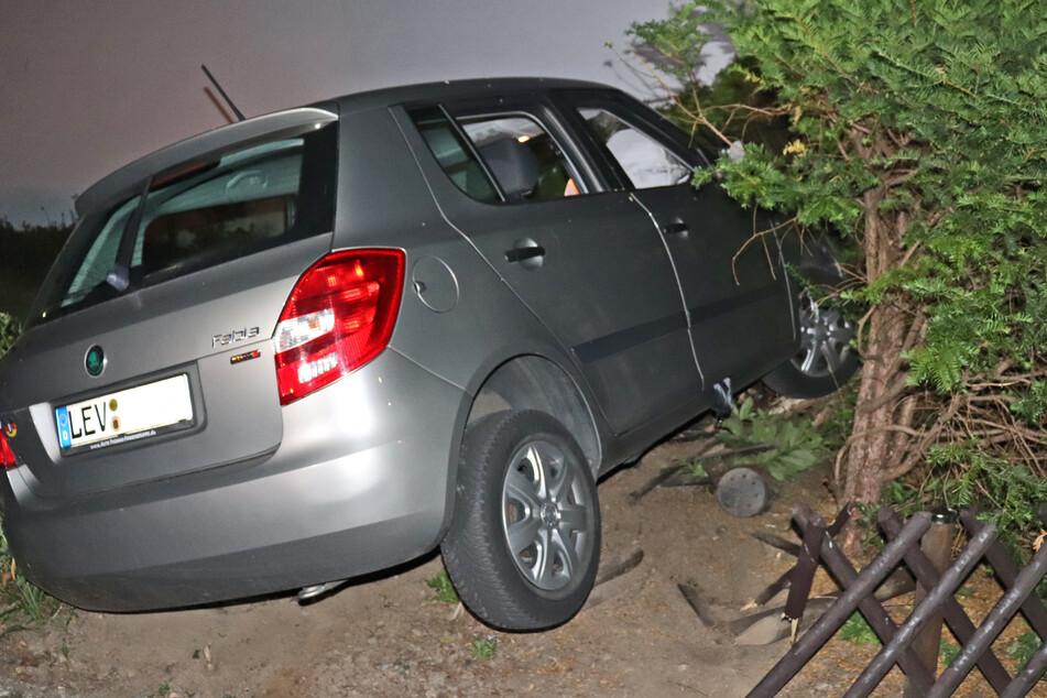 Betrunkener Autofahrer (20) landet im Vorgarten