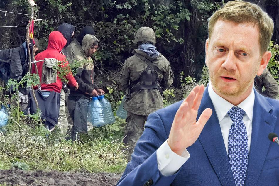 Sachsen-MP Kretschmer fordert befestigte EU-Außengrenze zu Belarus