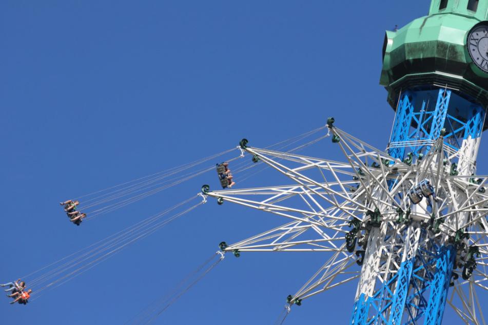 Das Rekord-Karussell steht seit Anfang September im Skyline Park.
