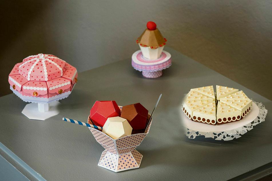 Regina Hauer bastelte auch einen Eisbecher und eine Torte.