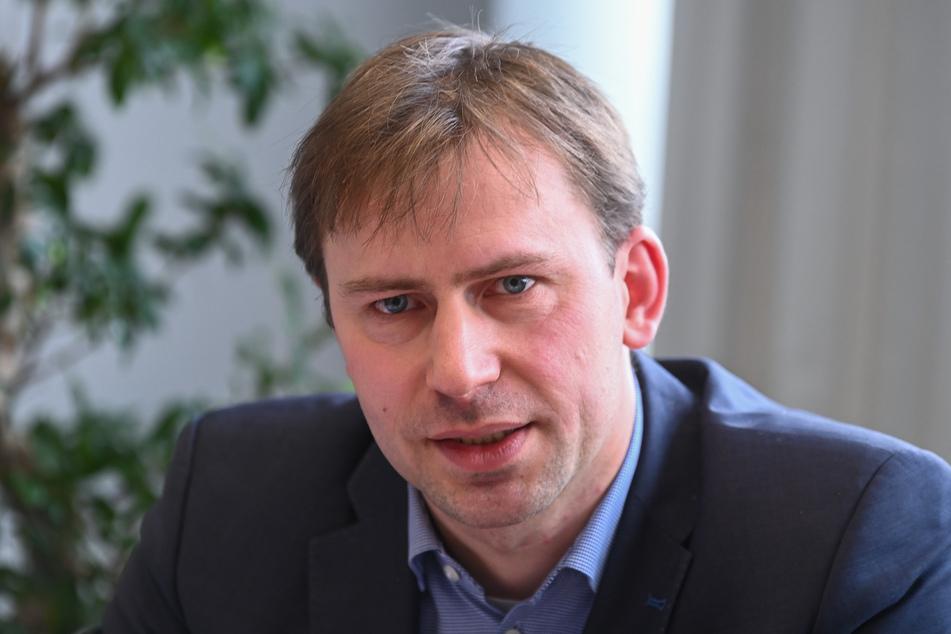 Der SPD-Landtagsabgeordneter Holger Mann lobte den friedlichen Gegenprotest.