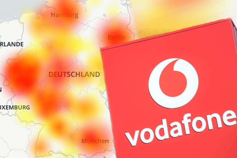 Vodafone down: Bundesweit umfangreiche Störungen