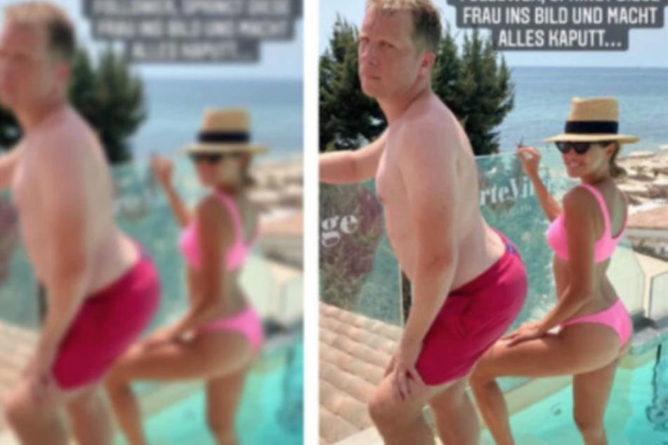 Hier zeigte sich Oliver Pocher (43) mit seiner Ex-Frau Alessandra Meyer-Wölden (38) gemeinsam im Pool.