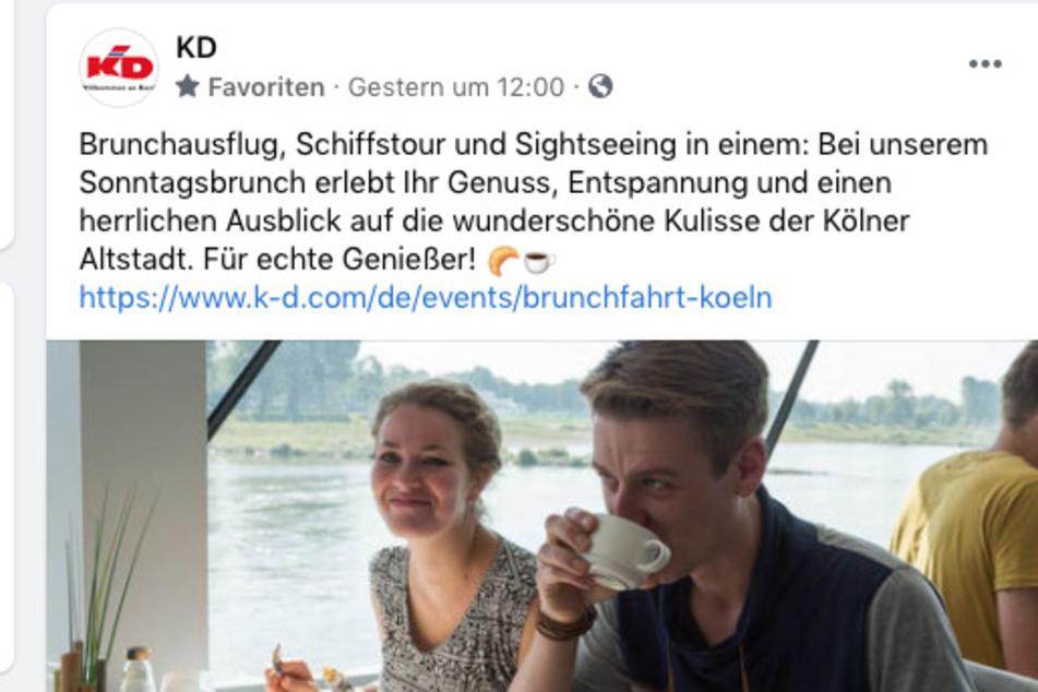 Die Werbung lief vorgeplant bei Facebook, während der Rhein bereits Hochwasser führte und der Regen für eine Wetter-Katastrophe in NRW sorgte.