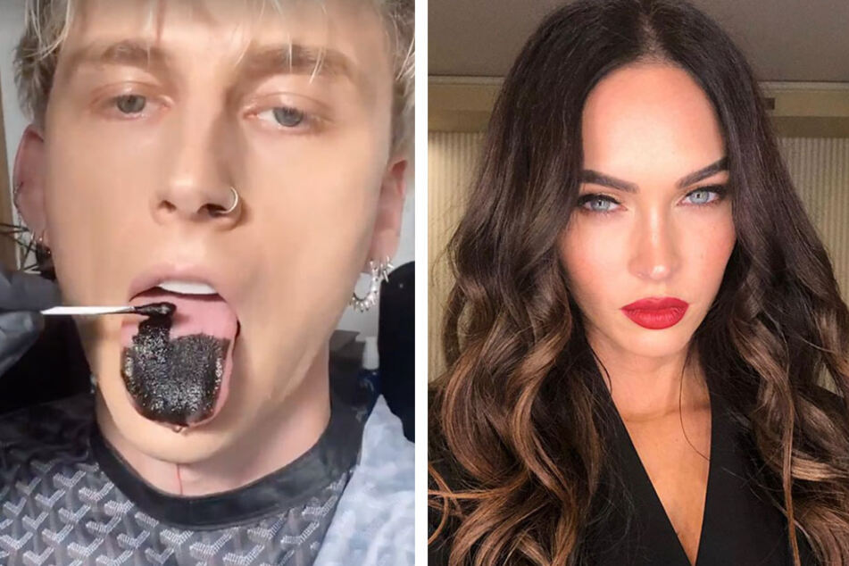 Paint It Black: Megan Fox posts a sultry and surprising snapshot with boo Machine Gun Kelly