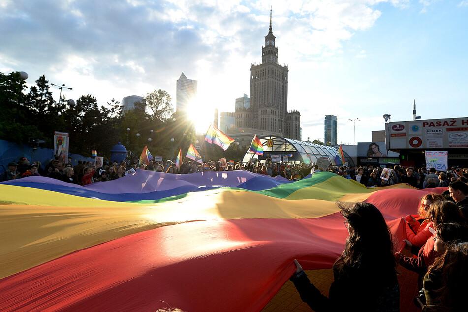 In Polen kommt es immer wieder zu Protesten der LGBT-Aktivistin. (Archivbild)