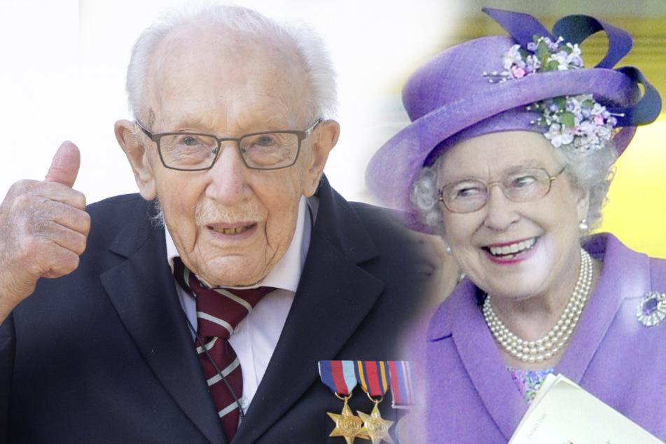 100-jähriger Rollator-Spendenläufer wird zum Ritter geschlagen
