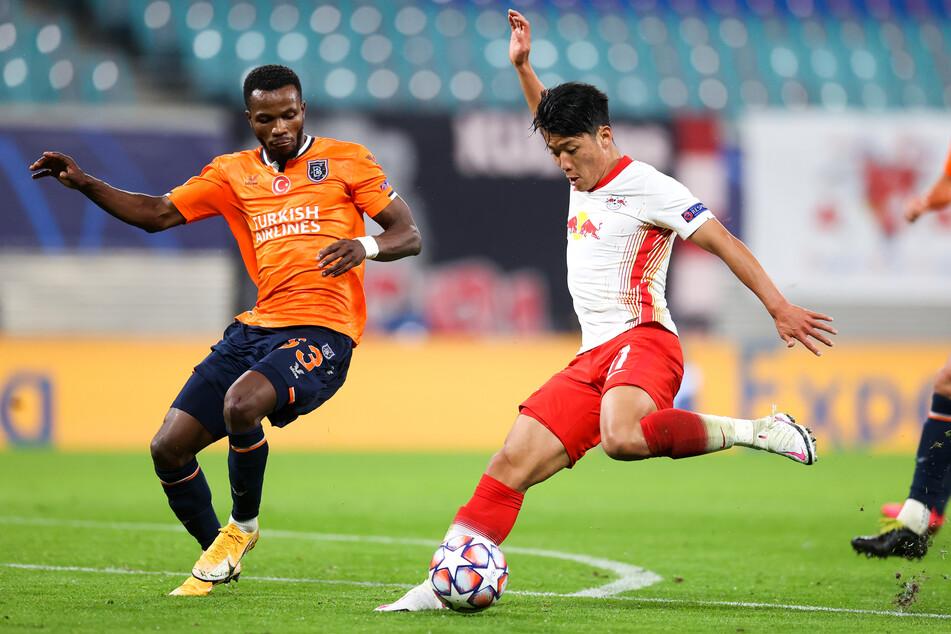 RB Leipzigs Hee-chan Hwang, hier im Spiel gegen Istanbul Basaksehir, befindet sich aktuell in Isolation. Ihm selbst soll es jedoch gut gehen.