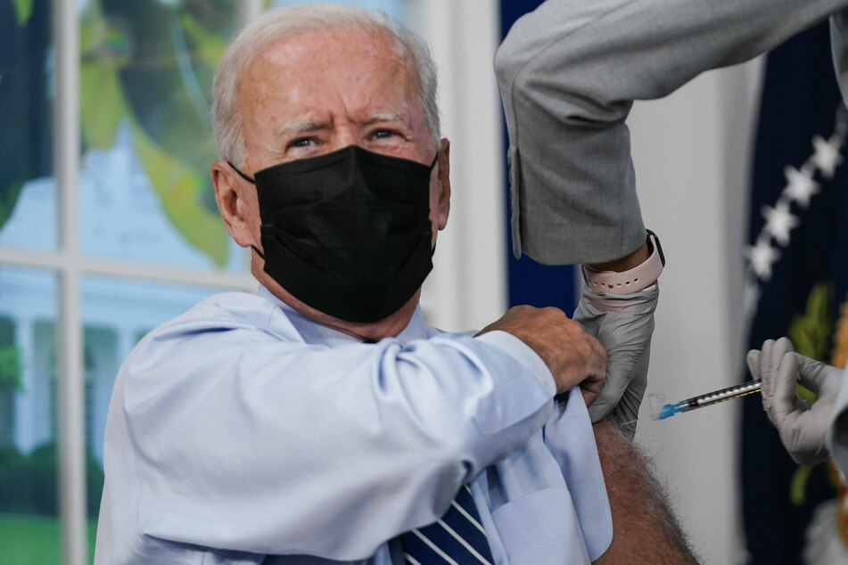 Biden gets booster shot amid push to increase Covid vaccination rate