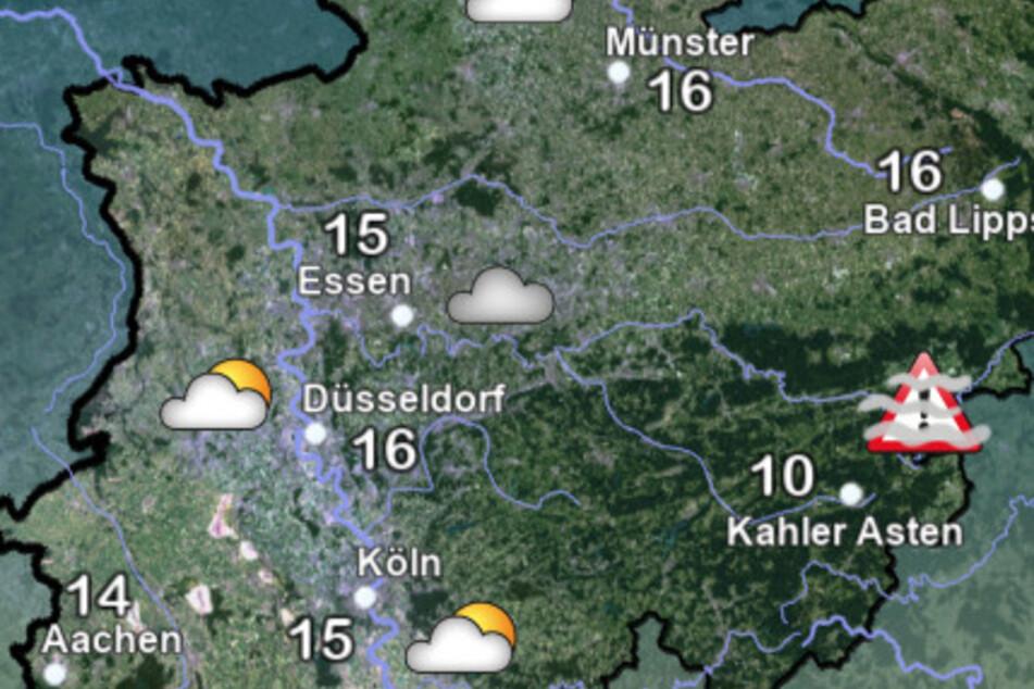 Der Deutsche Wetterdienst (DWD) rechnet in NRW mit kühleren Temperaturen.