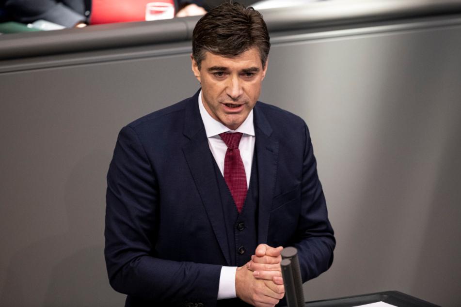 Hagen Reinhold (41, FDP), erster Corona-Fall des Deutschen Bundestages.