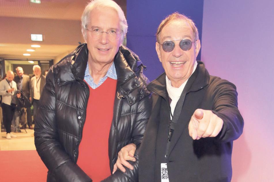 """Guido (75) und Maurizio De Angelis (73, v.l.) alias """"Oliver Onions"""" treten gleich zweimal am Elbufer auf."""