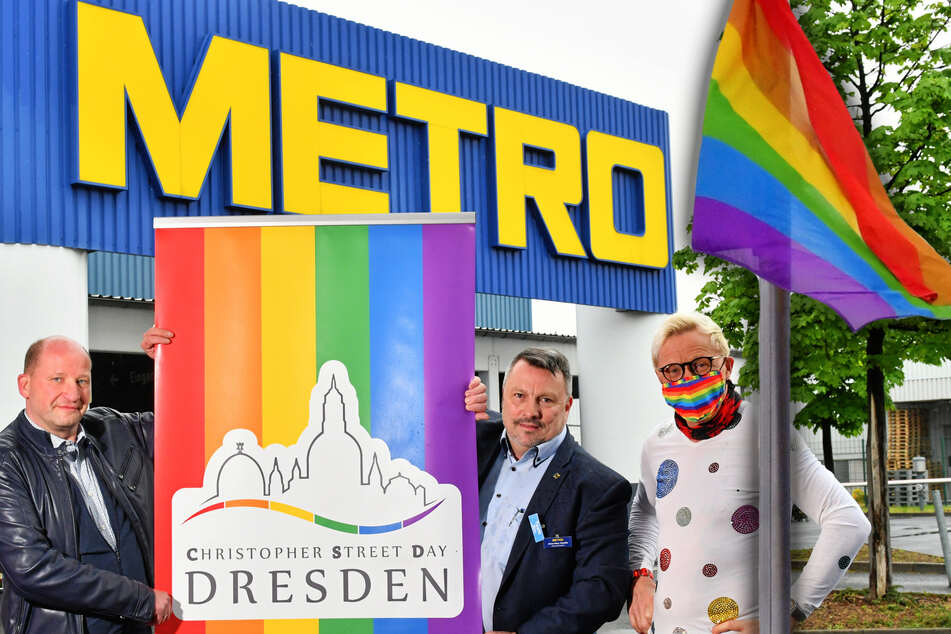 Dresden: Großhandel Metro hisst die Flagge gegen Diskriminierung