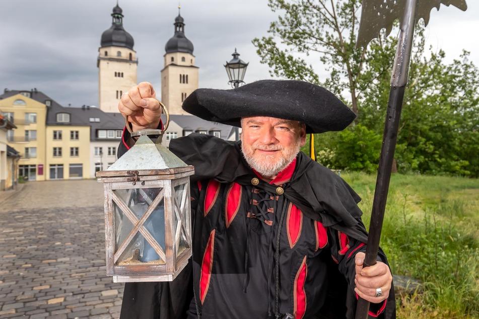 Uwe Rödel (54) ist der neue Nachtwächer in Plauen.