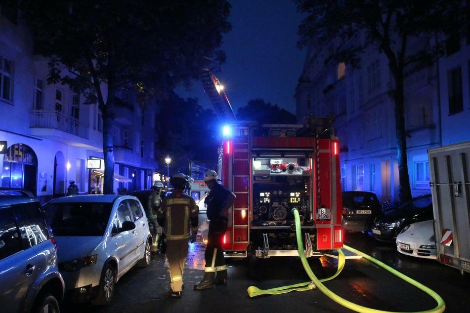 Im Horstweg in Berlin-Charlottenburg hat es am Donnerstagabend gebrannt.