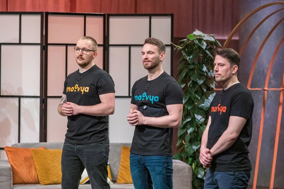 Richard Schütze (v.l.), Etienne Petermann und Jakob Wowy wollen die Löwen überzeugen.