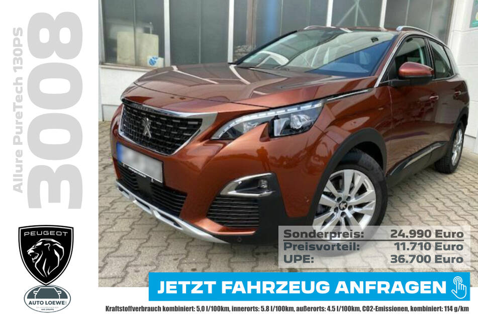 PEUGEOT 3008 Allure PureTech 130PS für 24.990 Euro
