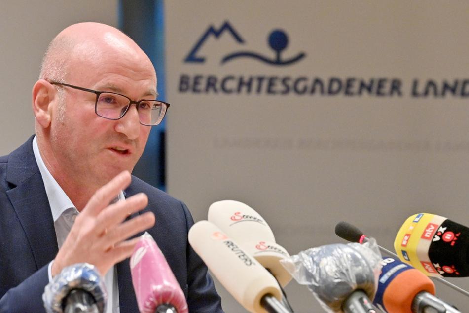 """Landrat Bernhard Kern nennt besorgniserregende Entwicklung: """"Die Covid-Patienten werden mehr."""" (Archiv)"""