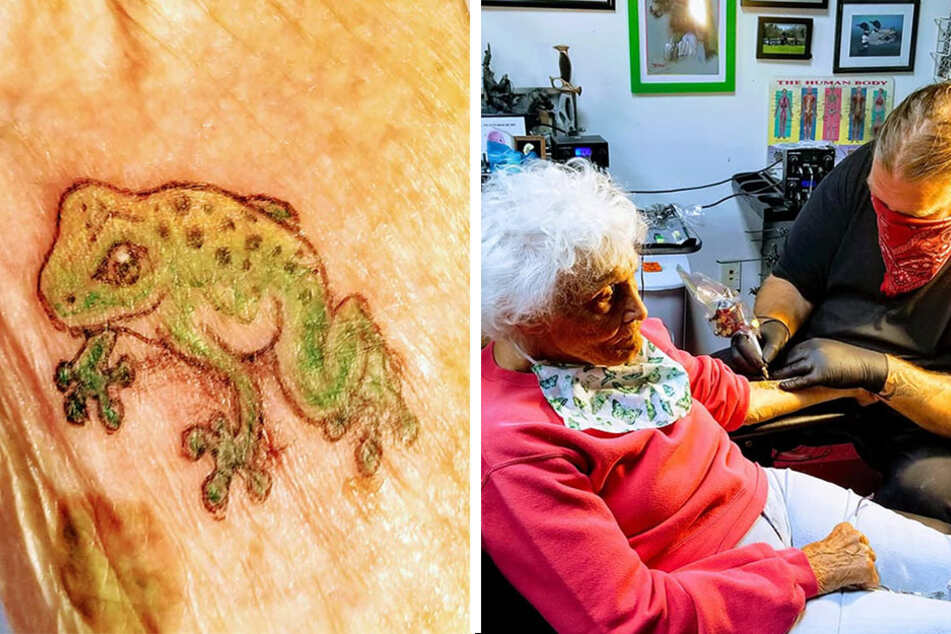 Grandma takes a ride on the wild side to celebrate making it to 103 years old!