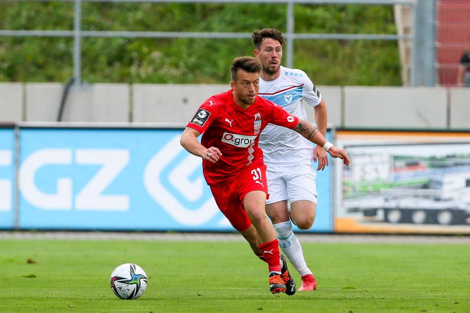 Patrick Göbel (28, v.) ist wieder fit. Er konnte schon im Pokal bei Inter Leipzig wieder spielen.