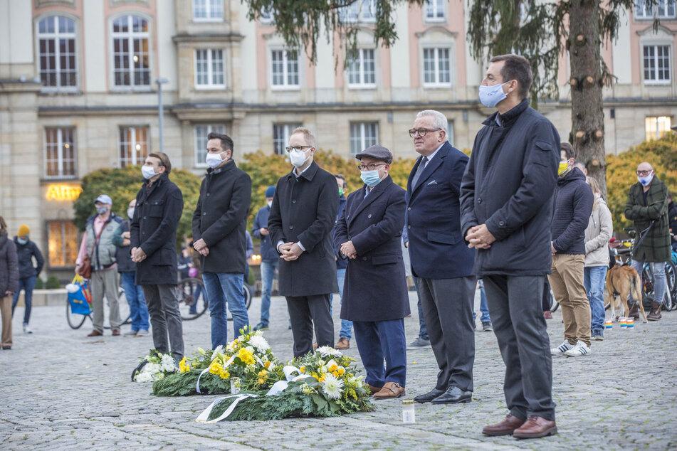 Auf dem Altmarkt wurde dem Opfer des islamistischen Attentats gedacht.