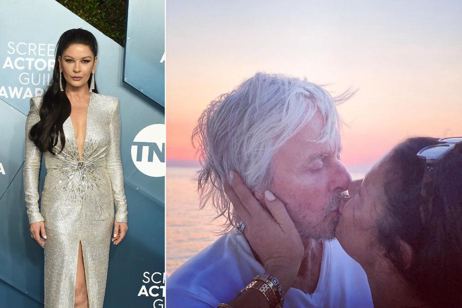 So romantisch knutscht Catherine Zeta-Jones ihren Ehemann Michael Douglas
