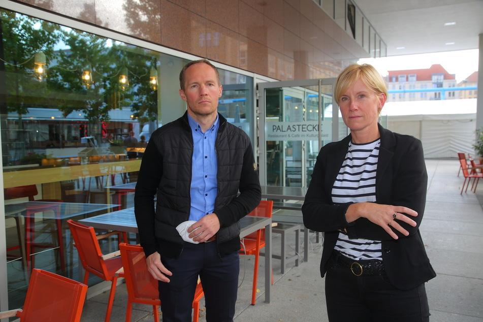 Die Palastecke-Chefs Olaf Kranz (42) und Jana Wittig (46) sorgen sich um ausreichend Gäste.
