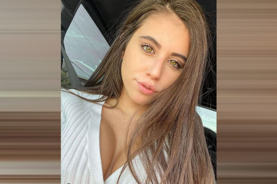 Violet Summers (20) took a selfie in her car in front of a church.