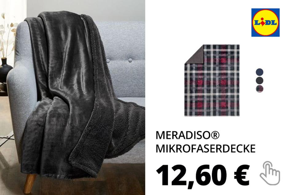 MERADISO® Mikrofaserdecke, 150 x 200 cm