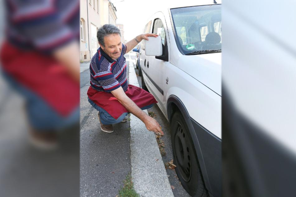 Die Anklage listet 310 Fälle auf. Hier hatte es einen Opel-Fahrer in der Frankenberger Straße erwischt.