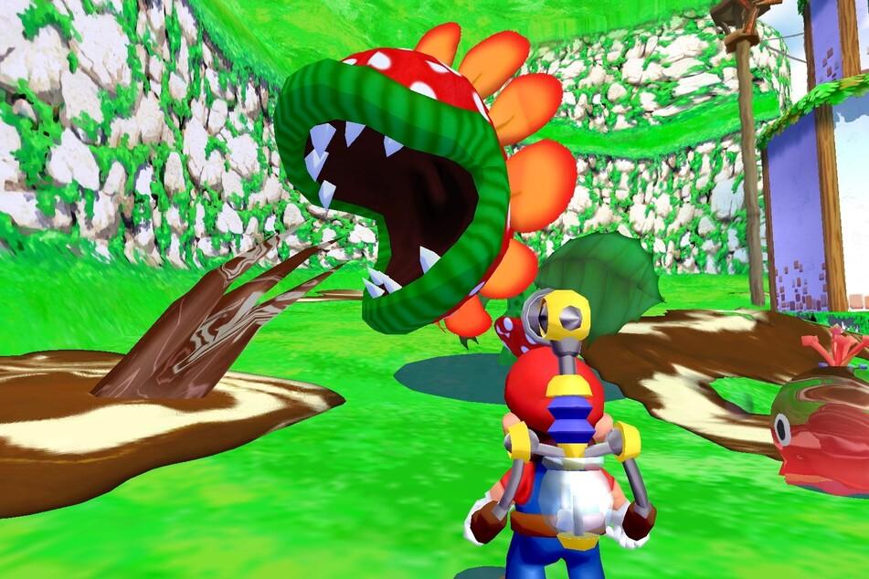 Marios Urlaubsausflug auf dem Gamecube kam mit einem besonderen Kniff daher: Mit der Wasserdüse Dreckweg 08/17 wurde das Move-Set deutlich erweitert.