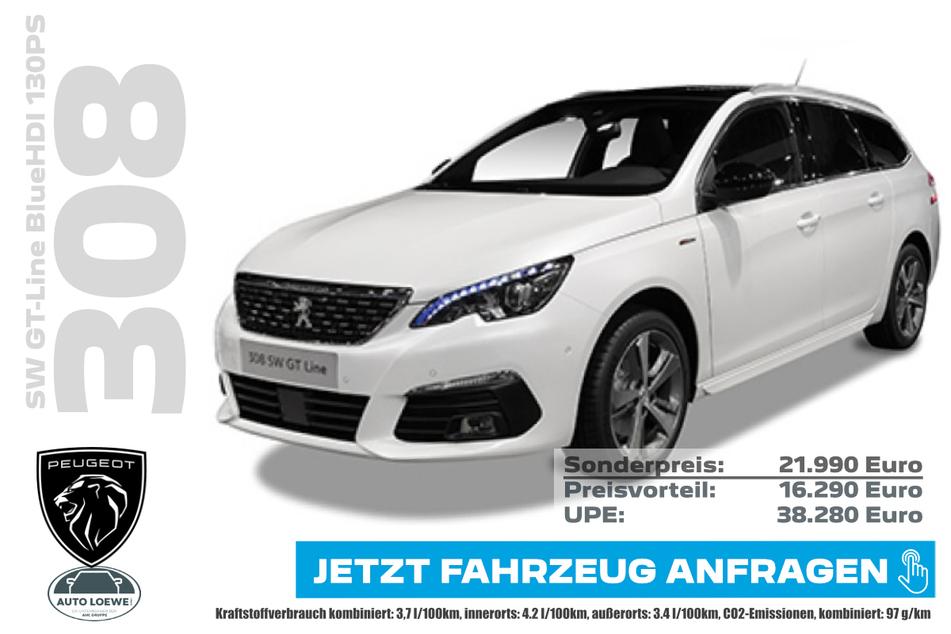 PEUGEOT 308SW GT-Line BlueHDI 130PS für 21.990 Euro