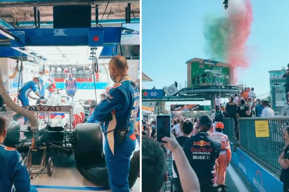 Sarah Engels und ihr Ehemann Julian (beide 28) erhielten beim Formel-1-Rennen in Monza exklusive Einblicke in den größten Motorsport der Welt.