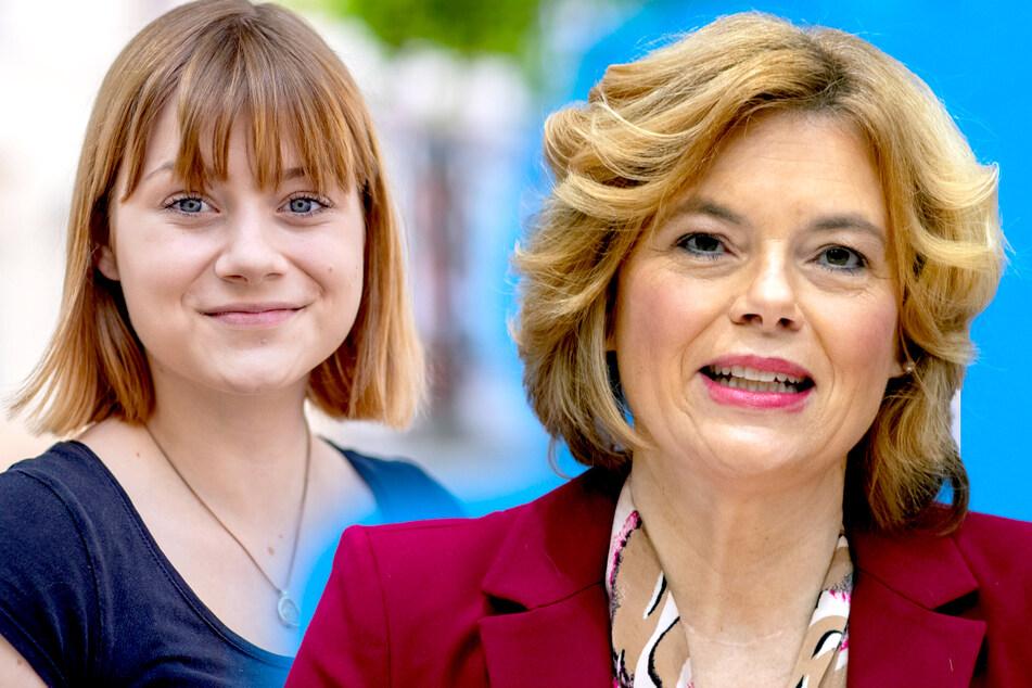 SPD-Politikerin Lilly Blaudszun (19, l.) kritisiert die Arbeit der Landwirtschaftsministerin Julia Klöckner (48, CDU).